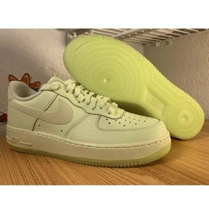 Nike Air Force 1 Barely Volt Glow Shoes AO2132-700